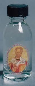 """Бутылочка с миром (""""манной"""") от мощей св.Николая."""